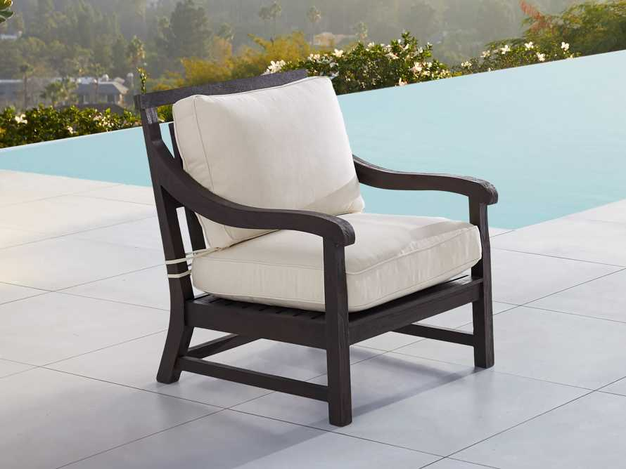 "Hampton Outdoor 32"" Lounge Chair in Truffle Brown, slide 1 of 5"
