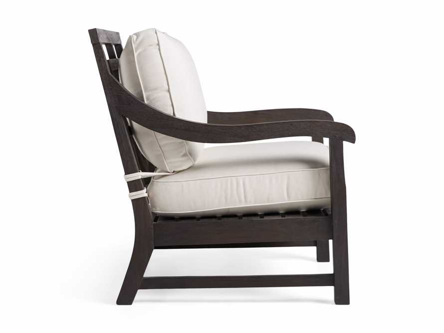 "Hampton Outdoor 32"" Lounge Chair in Truffle Brown, slide 3 of 5"