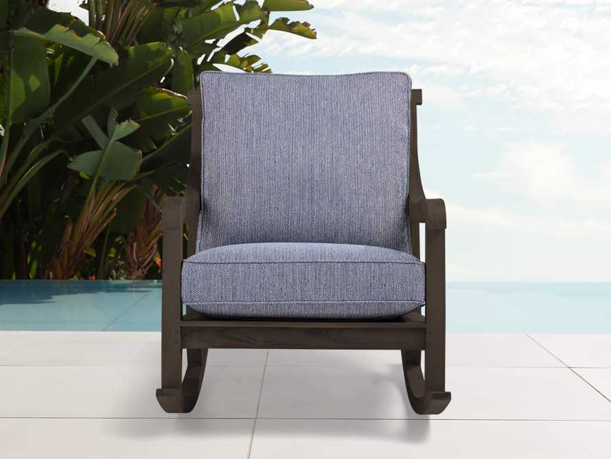 "Hamptons Outdoor 30"" Truffle Brown Rocking Chair Cottage Indigo"
