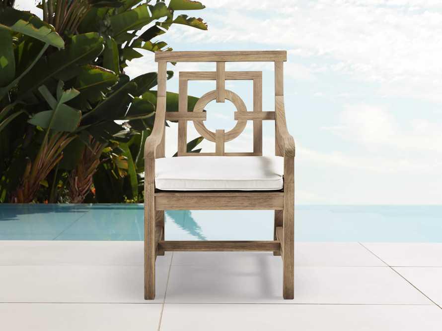 "Hamptons Outdoor 24"" Teak Dining Arm Chair, slide 1 of 6"