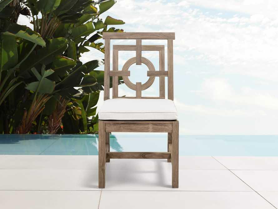 "Hamptons Outdoor 21"" Teak Dining Side Chair"