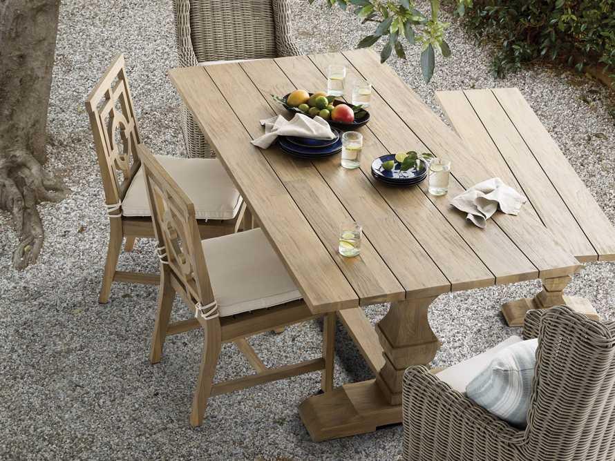 "Hamptons Outdoor 21"" Teak Dining Side Chair, slide 8 of 8"