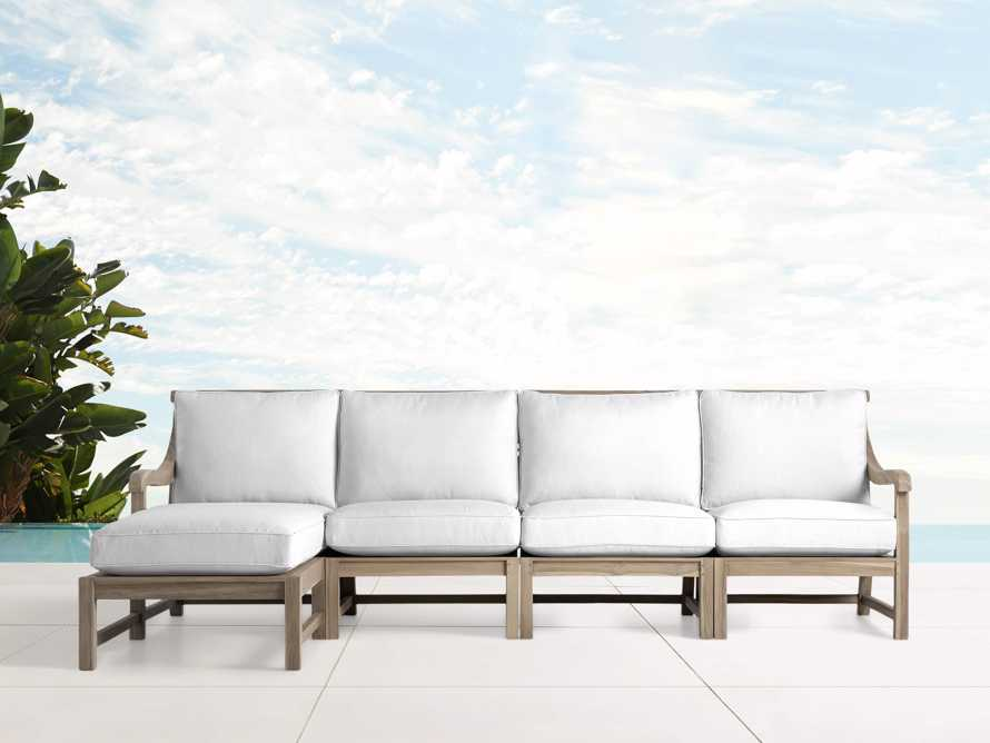 Hamptons Outdoor Four Piece Left Arm Sectional, slide 1 of 2