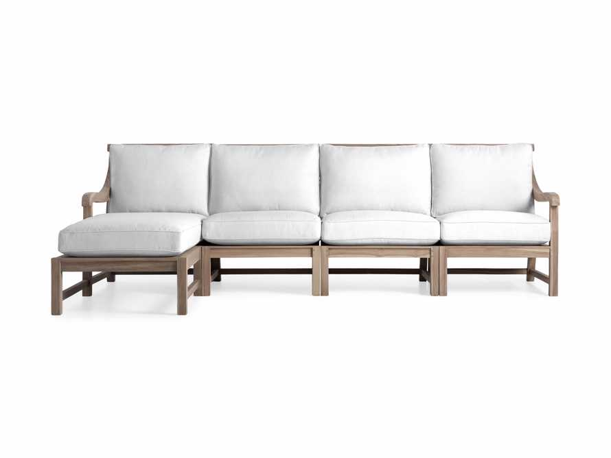 Hamptons Outdoor Four Piece Left Arm Sectional, slide 2 of 2