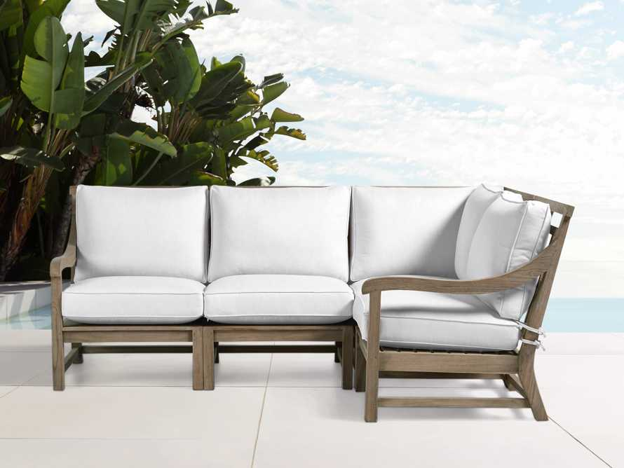 Hamptons Outdoor 4 Piece Weathered Fawn Sectional, slide 1 of 2