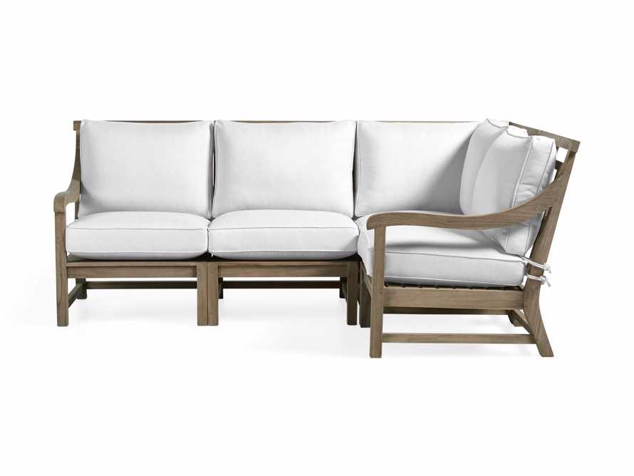 Hamptons Outdoor 4 Piece Weathered Fawn Sectional, slide 2 of 2