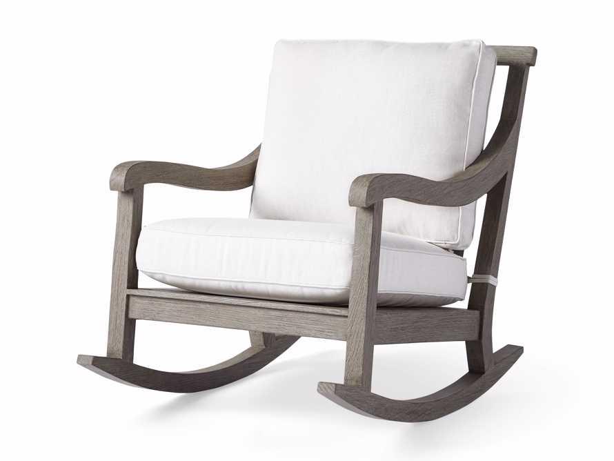 "Hamptons Outdoor 30.5"" Rocking Chair in Driftwood Grey, slide 3 of 9"