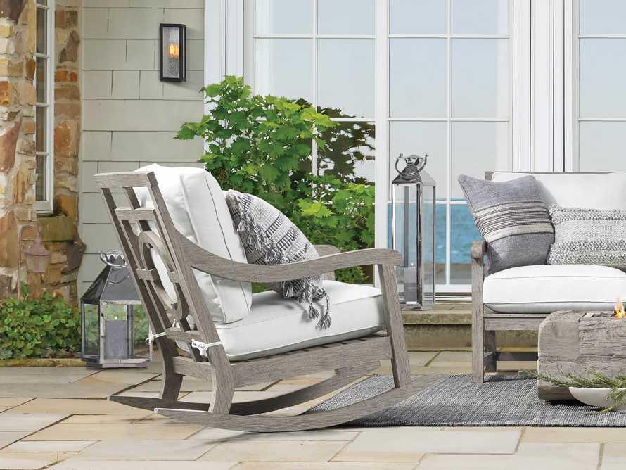 "Hamptons Outdoor 30.5"" Rocking Chair in Driftwood Grey, slide 7 of 9"