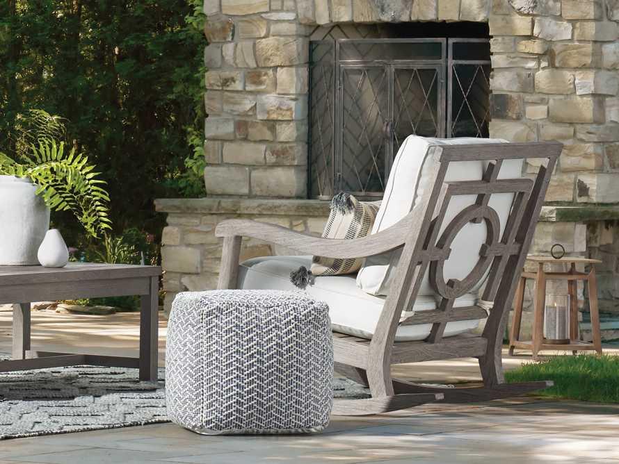 "Hamptons Outdoor 30.5"" Rocking Chair in Driftwood Grey, slide 8 of 9"