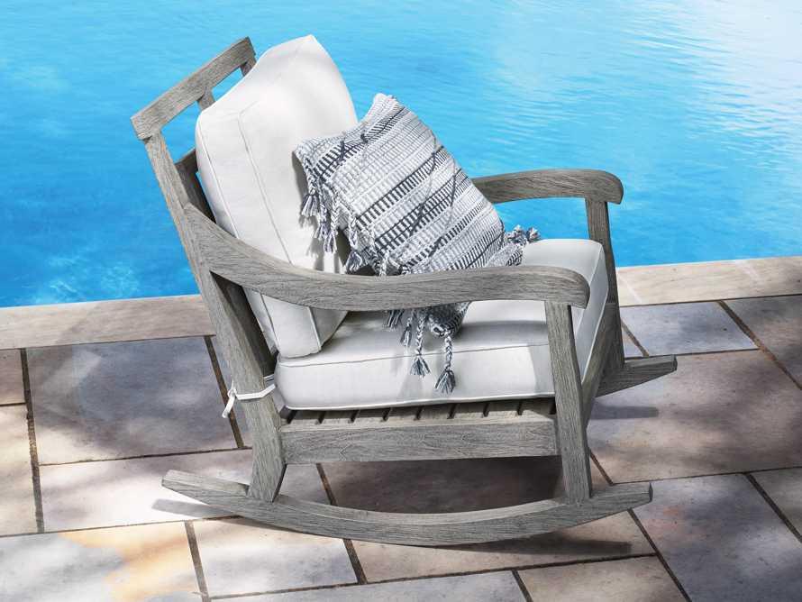 "Hamptons Outdoor 30.5"" Rocking Chair in Driftwood Grey, slide 1 of 9"