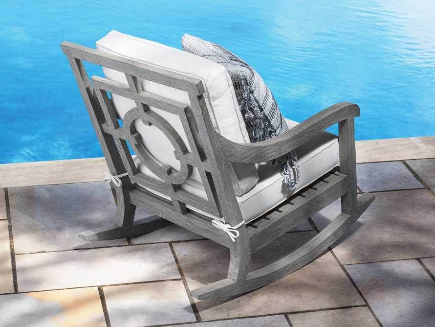 "Hamptons Outdoor 30.5"" Rocking Chair in Driftwood Grey, slide 9 of 9"