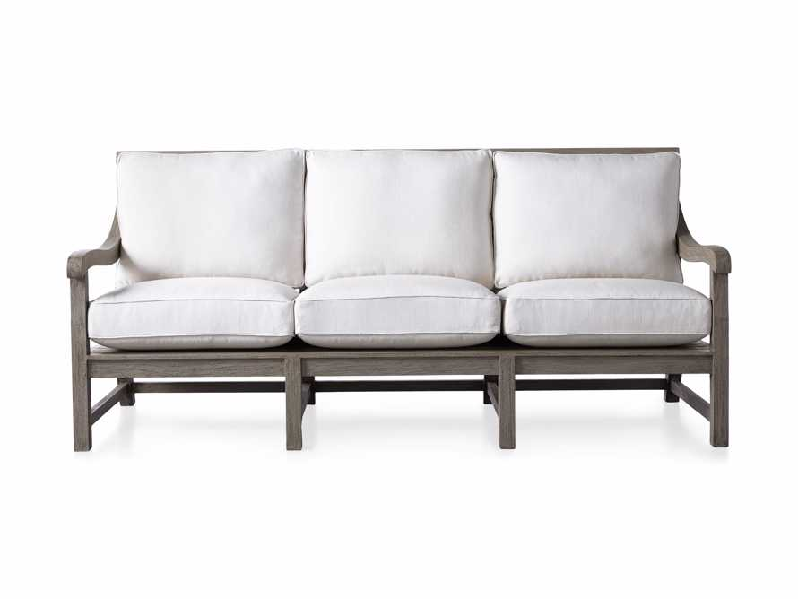 "Hamptons Outdoor 82.75"" Sofa in Driftwood Grey, slide 3 of 6"