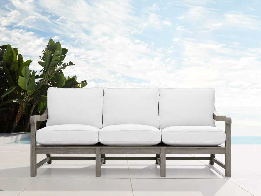 "Hamptons Outdoor 82.75"" Sofa in Driftwood Grey, slide 2 of 6"