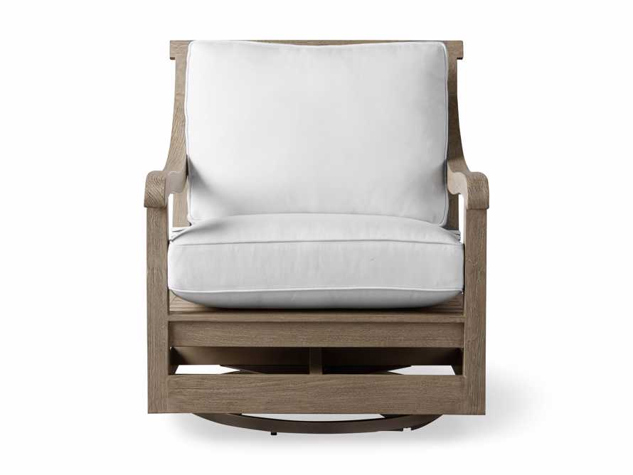 """Hamptons Outdoor 32.5"""" Swivel Chair in Weathered Fawn, slide 3 of 6"""