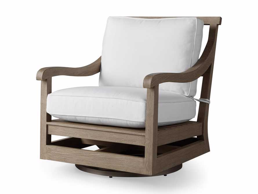 """Hamptons Outdoor 32.5"""" Swivel Chair in Weathered Fawn, slide 4 of 6"""