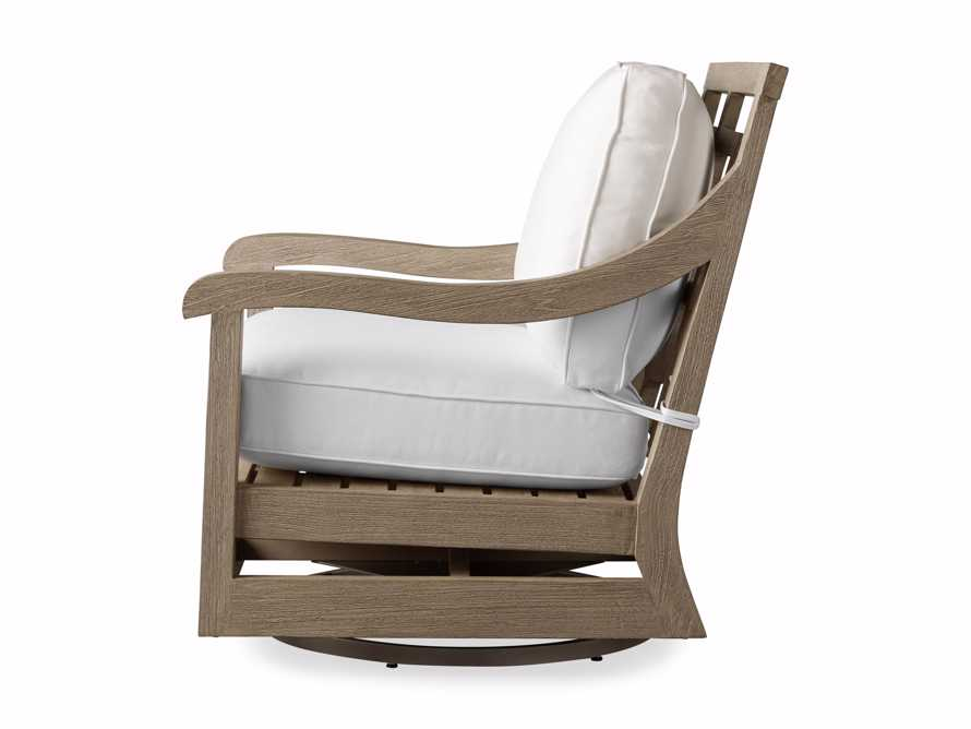 """Hamptons Outdoor 32.5"""" Swivel Chair in Weathered Fawn, slide 5 of 6"""