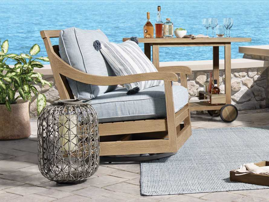 """Hamptons Outdoor 32.5"""" Swivel Chair in Weathered Fawn, slide 2 of 6"""
