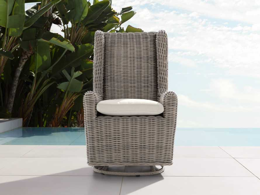 """Hunting Outdoor 27"""" Swivel Dining Arm Chair in Weathered Grey, slide 1 of 5"""