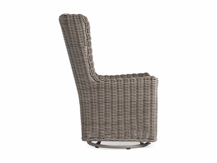 """Hunting Outdoor 27"""" Swivel Dining Arm Chair in Weathered Grey, slide 3 of 5"""