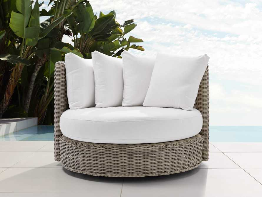 "Wyatt Outdoor 59"" Swivel Daybed Replacement Cushions"
