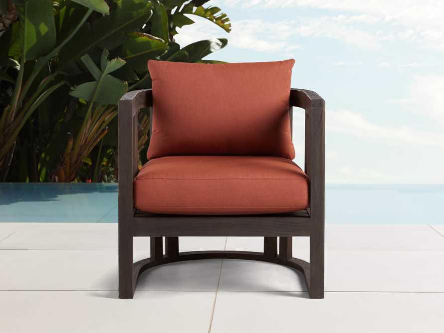 "Jhett Outdoor 28"" Lounge Chair in in Canvas Brick, slide 1 of 3"