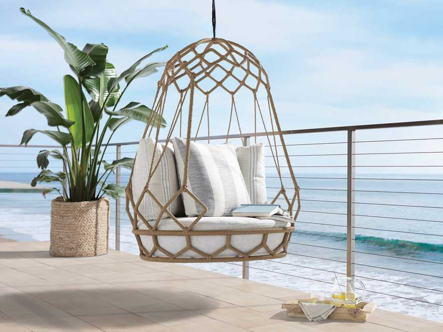 """Marina Outdoor 38"""" Hanging Chair with Rope, slide 1 of 6"""