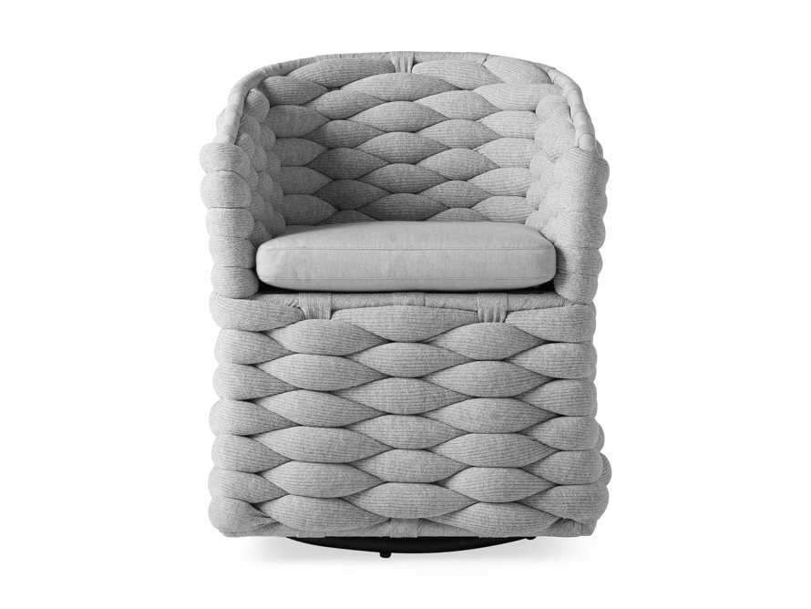 """Melbourne Outdoor Upholstered 26"""" Dining Arm Chair, slide 3 of 7"""