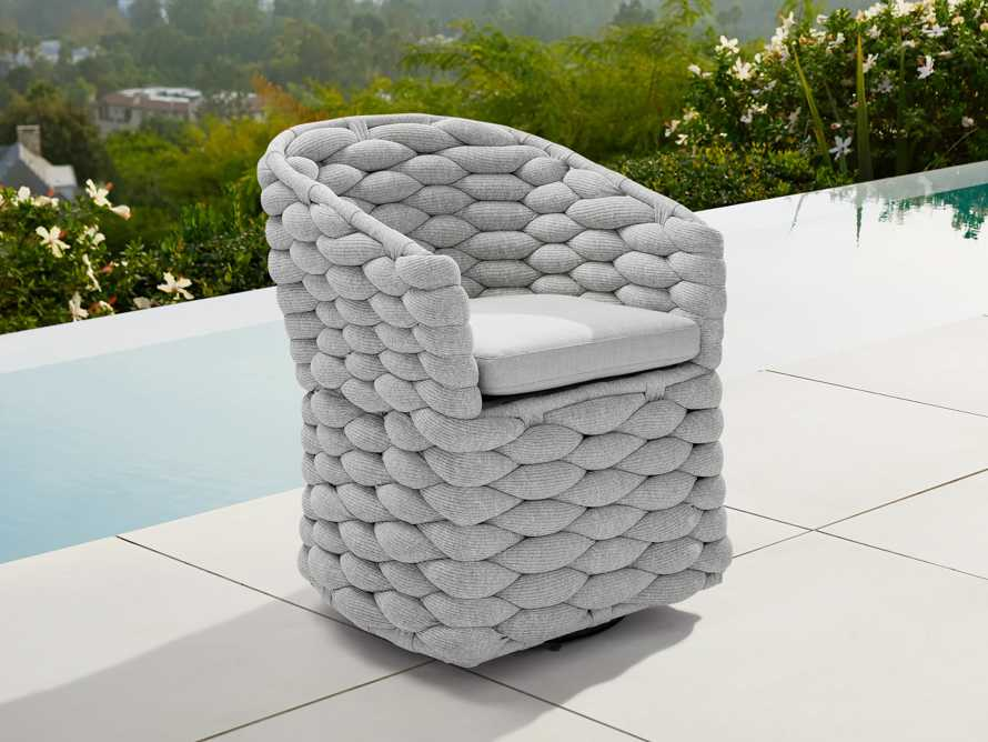 """Melbourne Outdoor Upholstered 26"""" Dining Arm Chair, slide 1 of 7"""