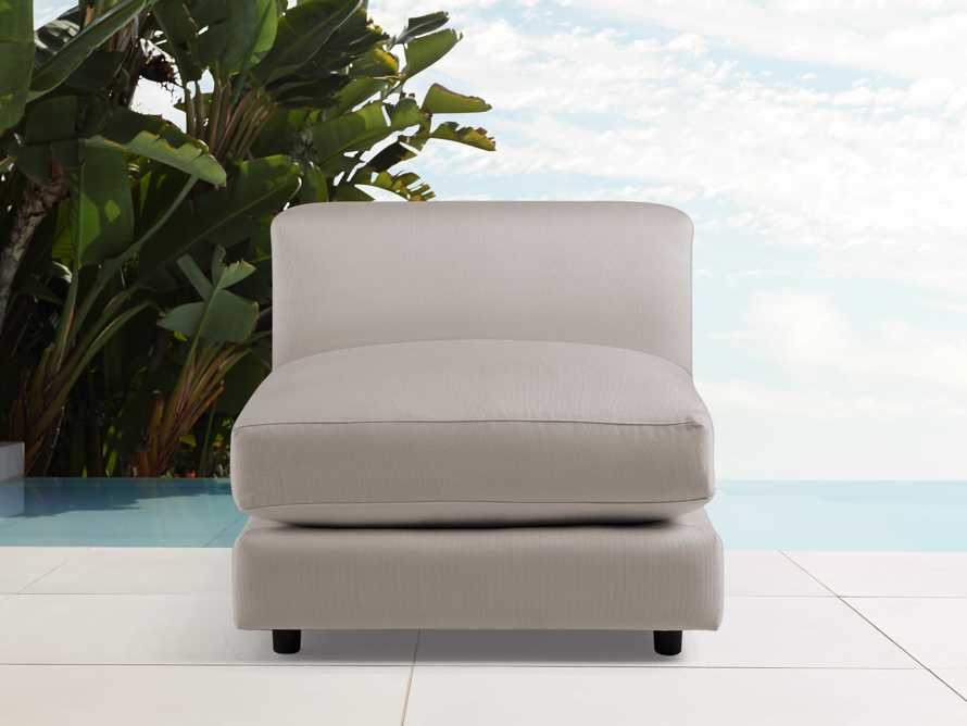"""Menlo Outdoor 32"""" Armless Chair in Sail Space, slide 1 of 1"""
