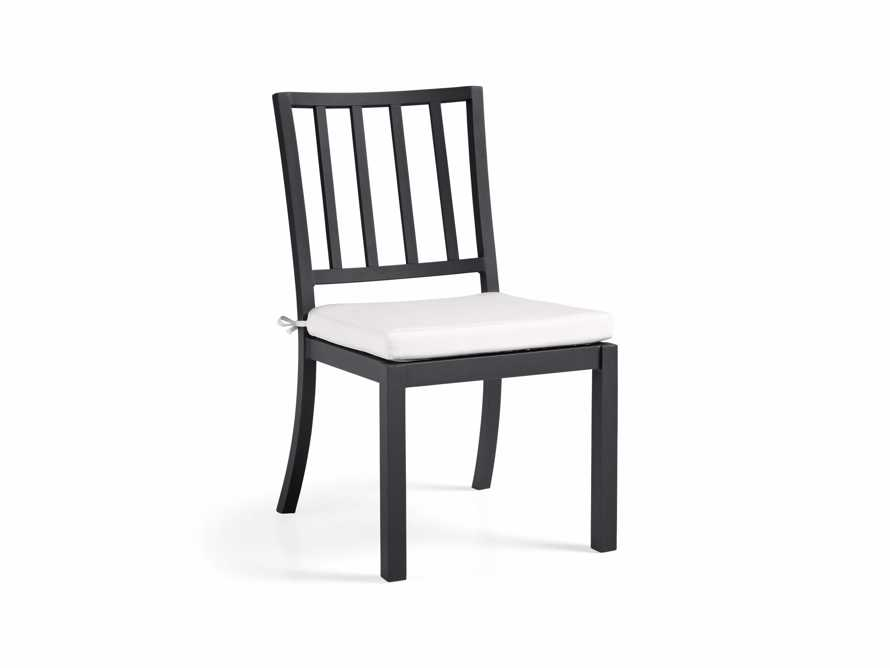 """Montego Outdoor 20"""" Dining Side Chair in Slate, slide 3 of 8"""