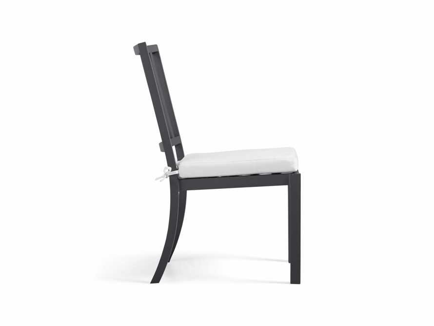 """Montego Outdoor 20"""" Dining Side Chair in Slate, slide 4 of 8"""
