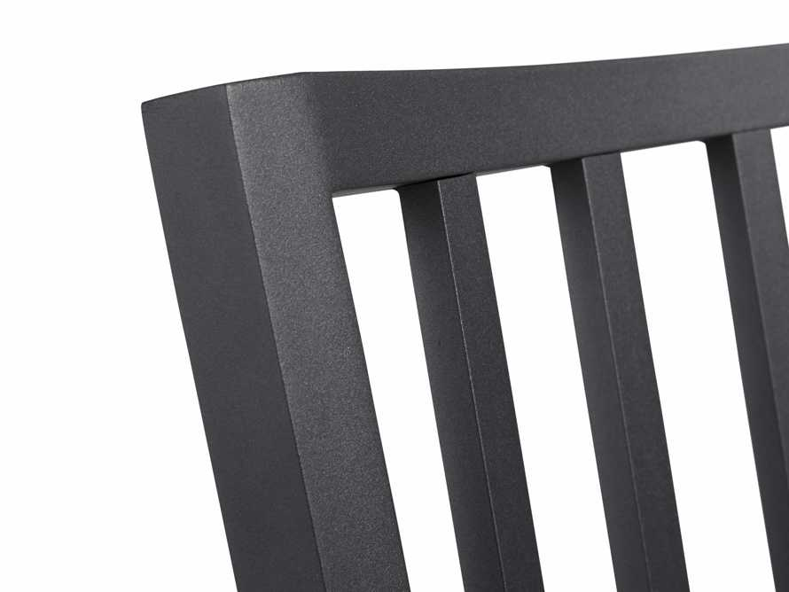 """Montego Outdoor 20"""" Dining Side Chair in Slate, slide 7 of 8"""