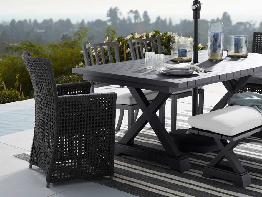 """Montego Outdoor 20"""" Dining Side Chair in Slate, slide 8 of 8"""