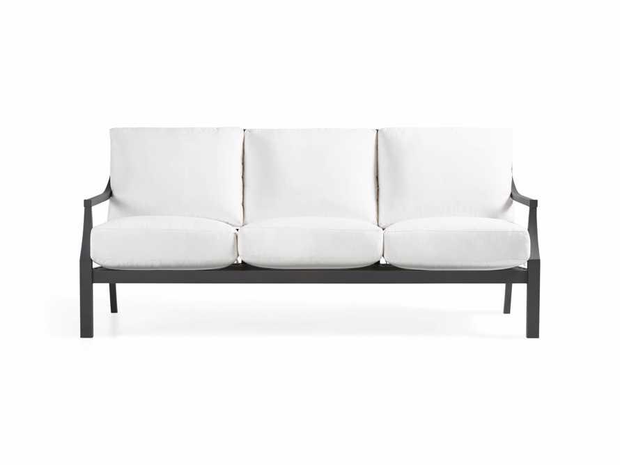 """Montego Outdoor 79"""" Sofa in CANVAS WHITE"""