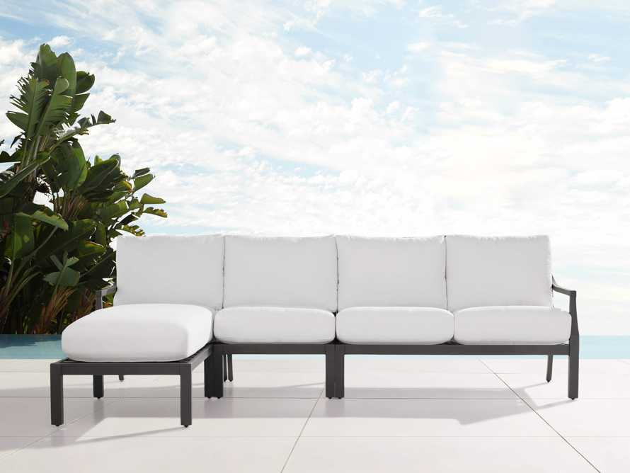"""Montego Outdoor 107"""" Three Piece Sectional, slide 1 of 5"""