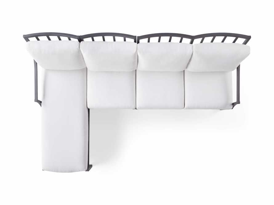 """Montego Outdoor 107"""" Three Piece Sectional, slide 5 of 5"""