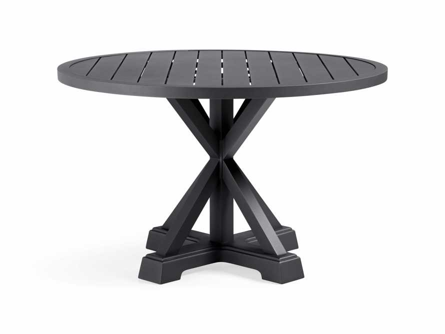 "Montego Outdoor 48"" Round Dining Table in Slate, slide 2 of 6"