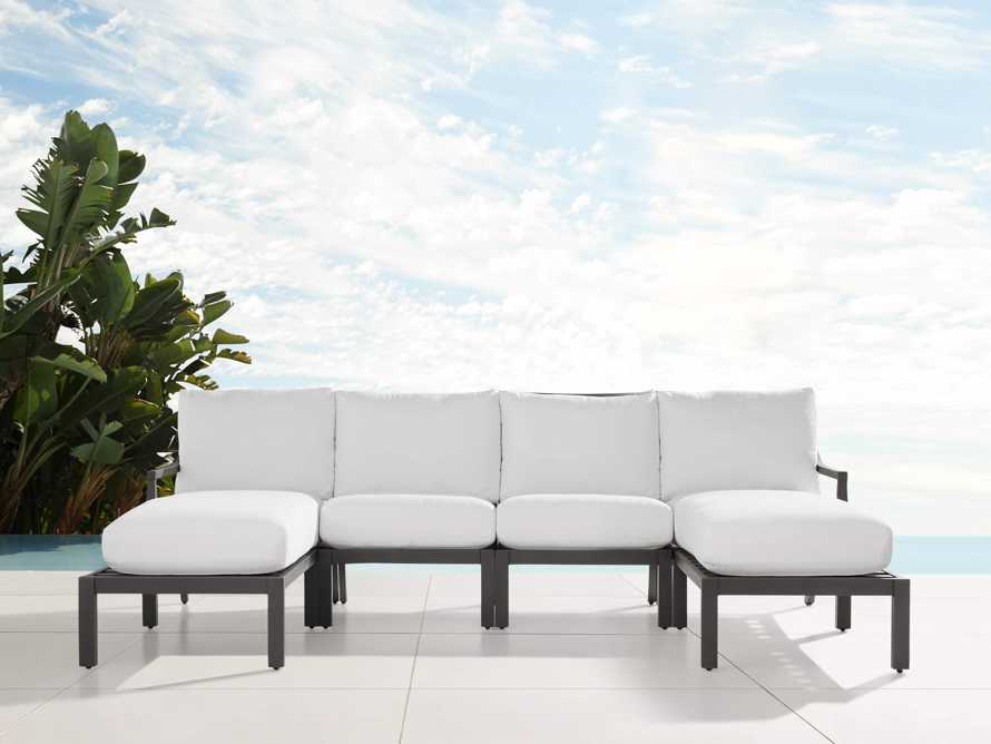"""Montego Outdoor 107"""" Four Piece Sectional, slide 1 of 3"""