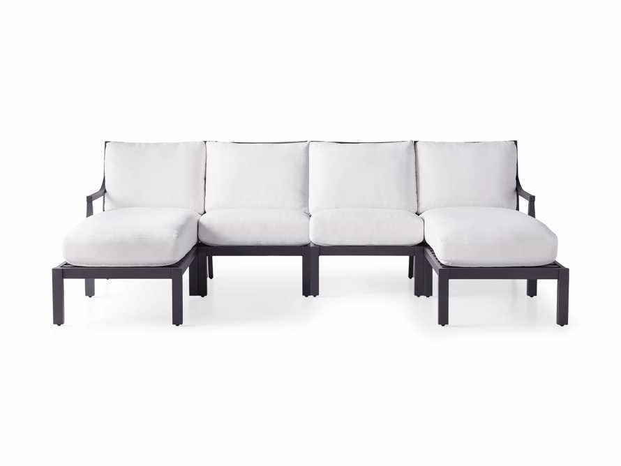 """Montego Outdoor 107"""" Four Piece Sectional, slide 2 of 3"""