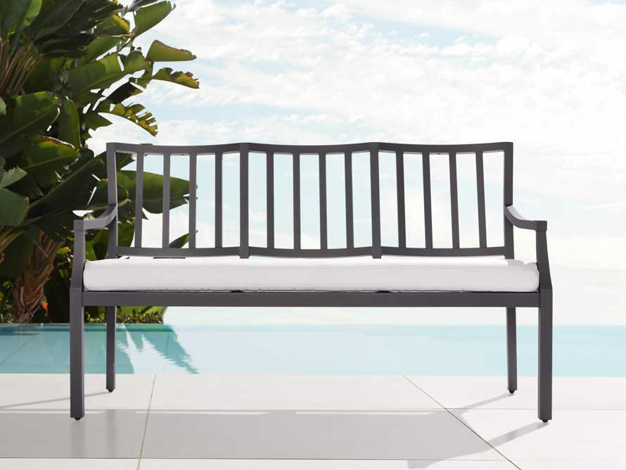 "Montego Outdoor 60"" Dining Bench, slide 1 of 6"
