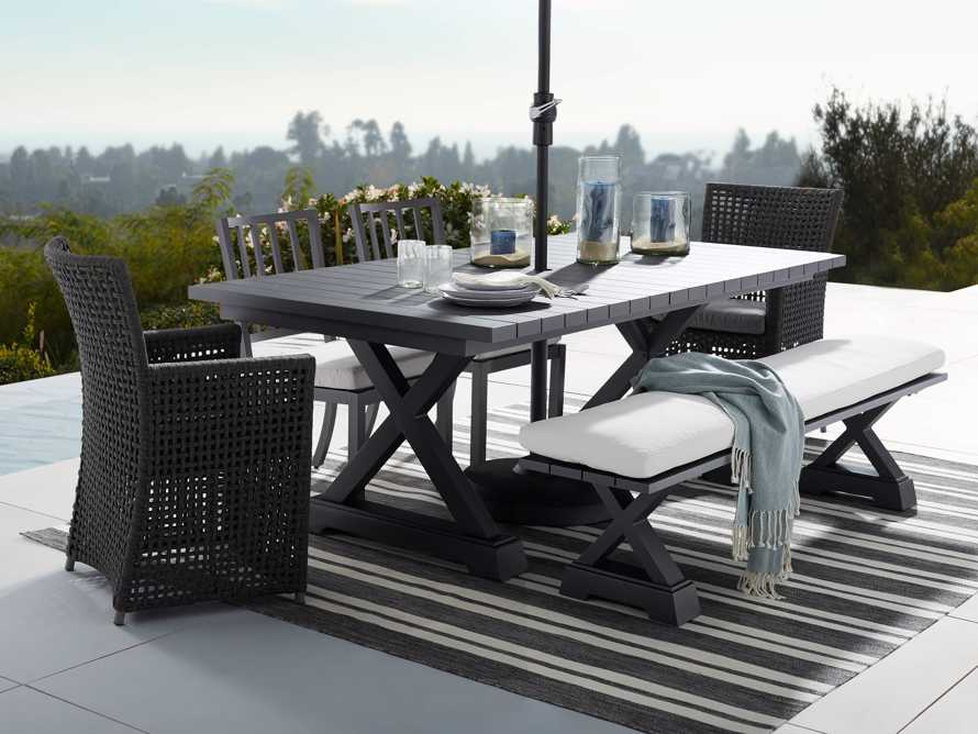 """Montego Outdoor 84"""" Dining Table in Slate"""
