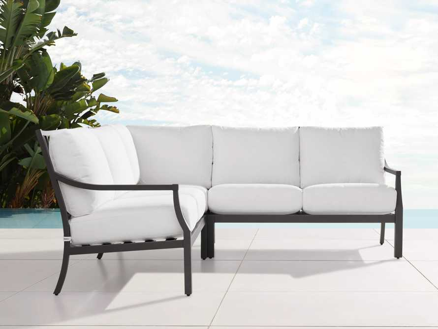 """Montego Outdoor 88"""" Three Piece Sectional, slide 1 of 5"""
