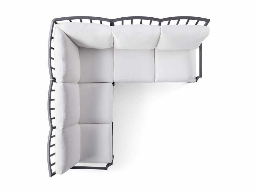 """Montego Outdoor 88"""" Three Piece Sectional, slide 5 of 5"""
