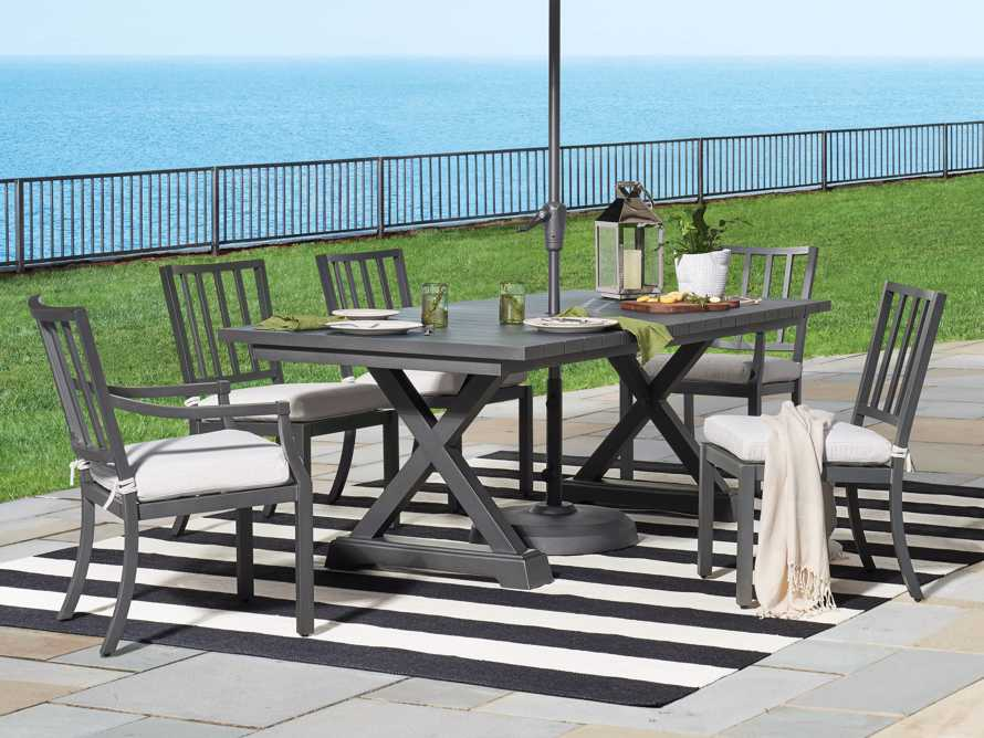"""Montego Outdoor 94"""" Dining Table in Slate, slide 1 of 6"""
