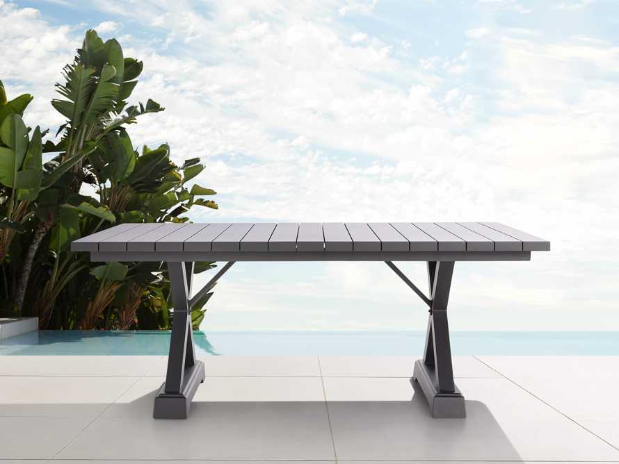 """Montego Outdoor 94"""" Dining Table in Slate, slide 2 of 6"""