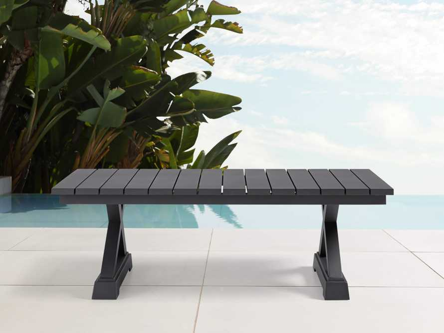 Montego Outdoor Coffee Table in Slate, slide 2 of 5