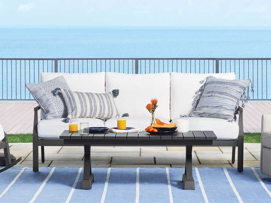 Montego Outdoor Coffee Table in Slate, slide 2 of 6