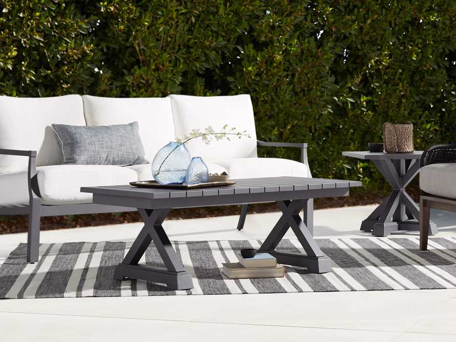 Montego Outdoor Coffee Table in Slate, slide 1 of 5
