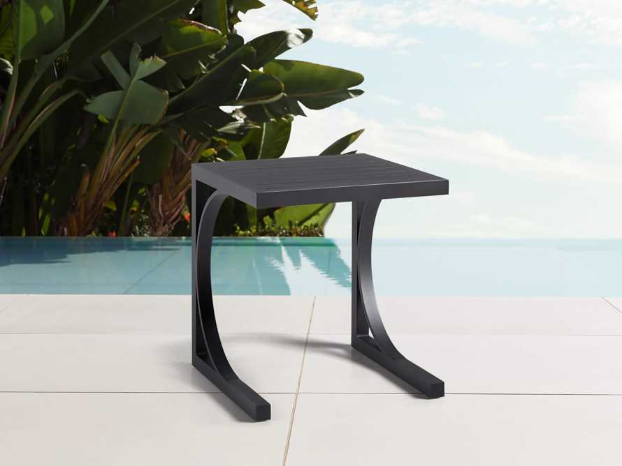 Montego Outdoor C Side Table in Slate, slide 1 of 5