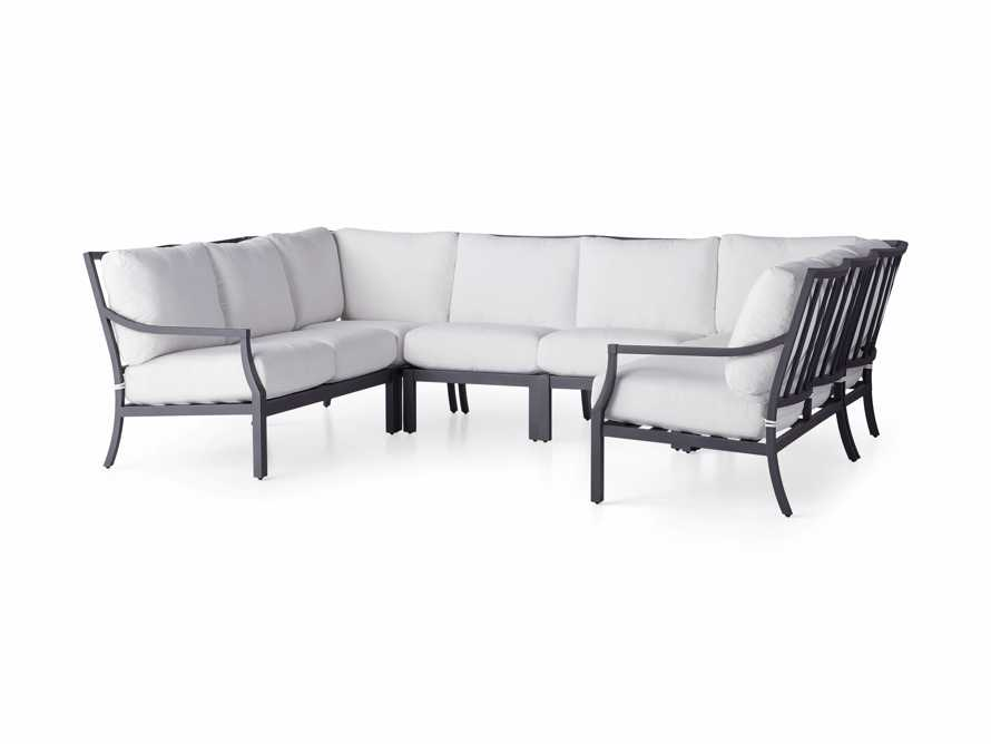"Montego Outdoor 122.5"" Six Piece Sectional, slide 3 of 5"